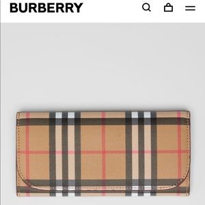 BRAND NEW Burberry Vintage Check Leather Wallet